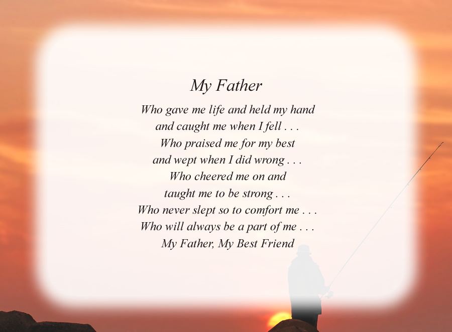 My Father(2) poem with the Fisherman background