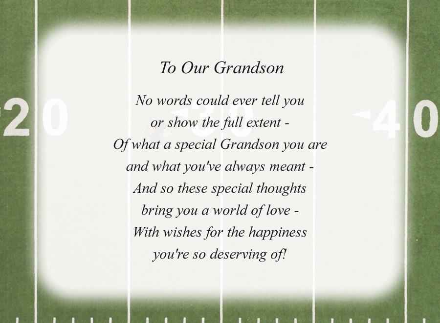 Grandson Poems 6