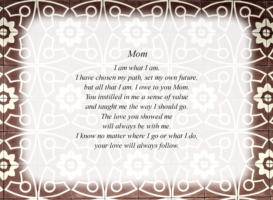 Mom(2) - Free Mother Poems